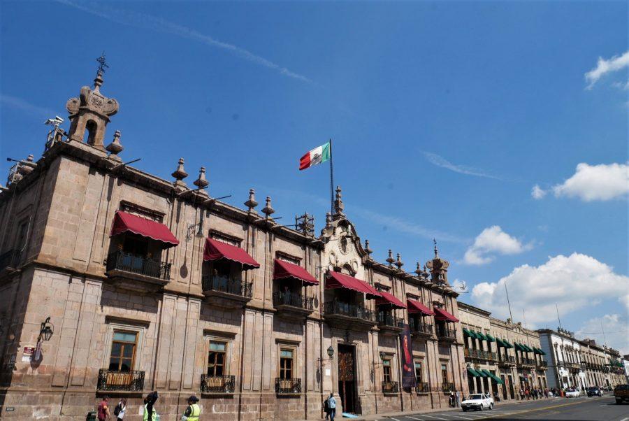 Fachada del Palacio de Gobernación en Morelia