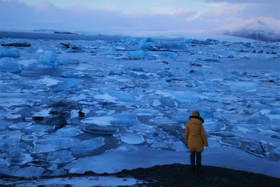 Lago glaciar Jökulsárlón, viaje a Islandia en invierno