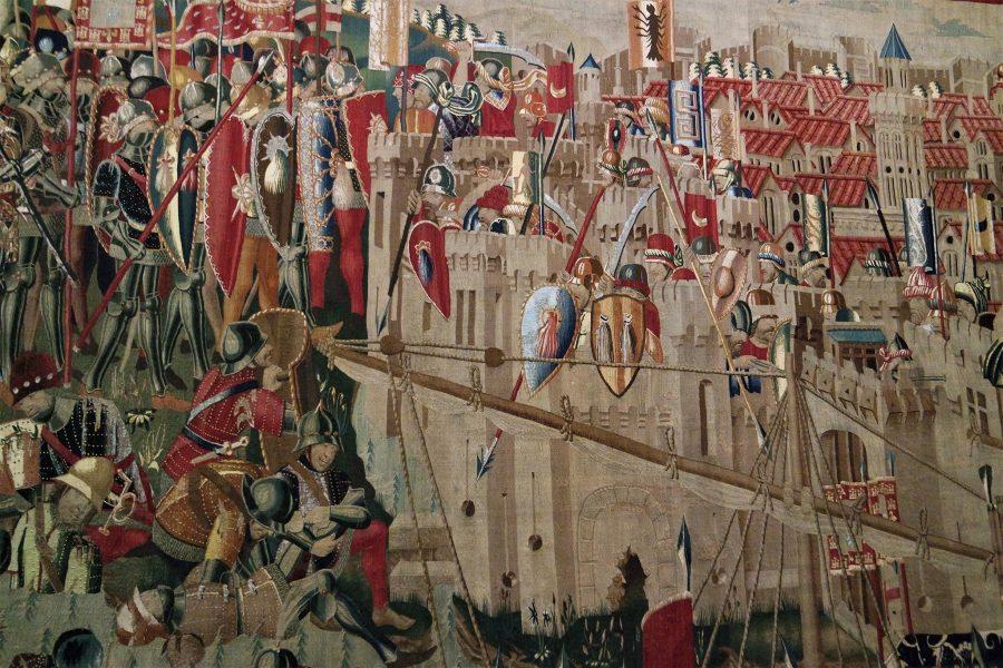 Detalle de los tapices de Pastrana