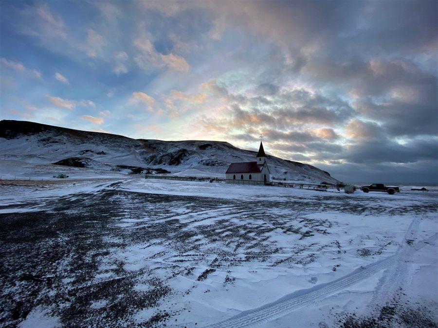 Paisaje de Islandia en invierno