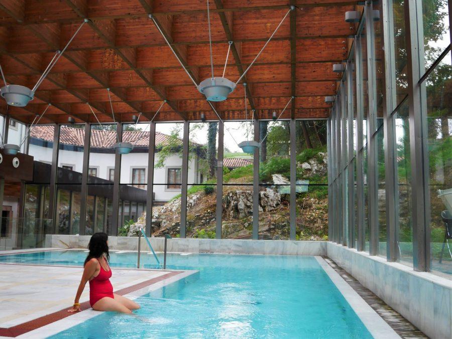 Piscina termal en El Balneario Real, Las Caldas