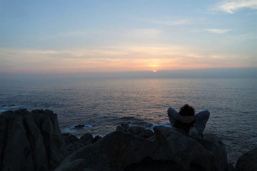Atardecer en la Costa da Morte, Galicia