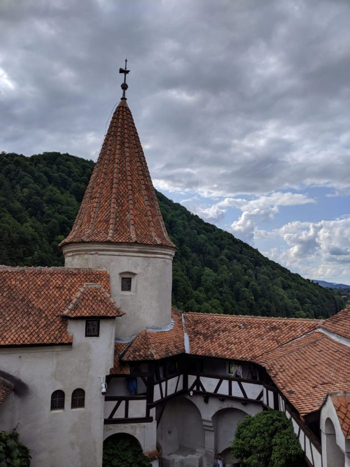 Torre, castillo del Conde Drácula fotos