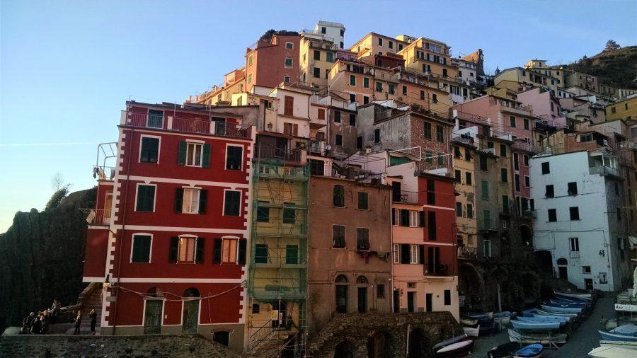 El atardecer en Riomaggiore