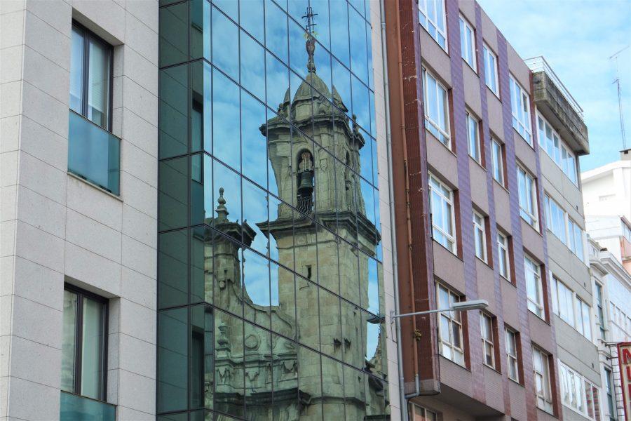 Reflejos de la Ciudad Vieja de A Coruña