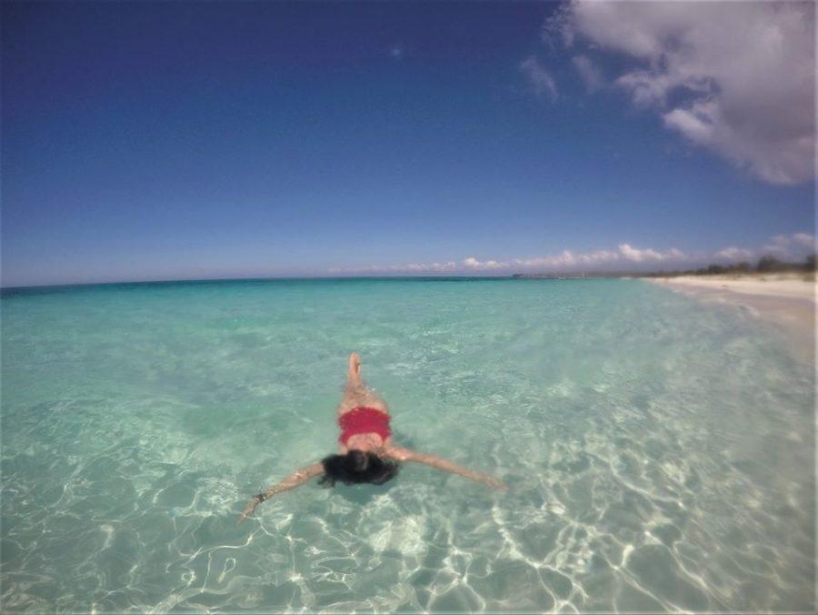 Baño en la playa