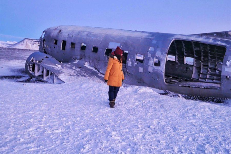 avión abandonado de Islandia