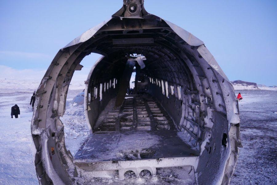 avión abandonado de Islandia por dentro