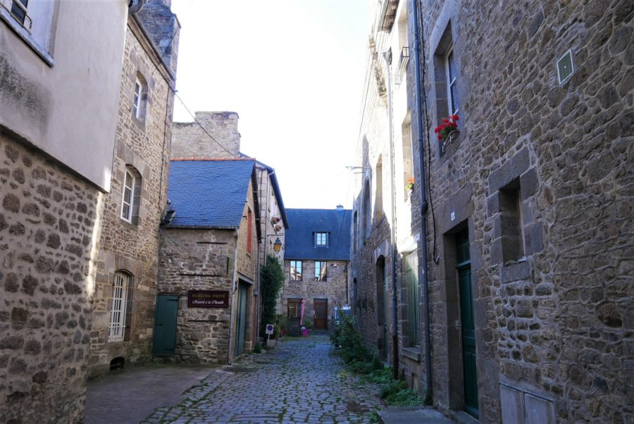 Calles del centro de Dinan