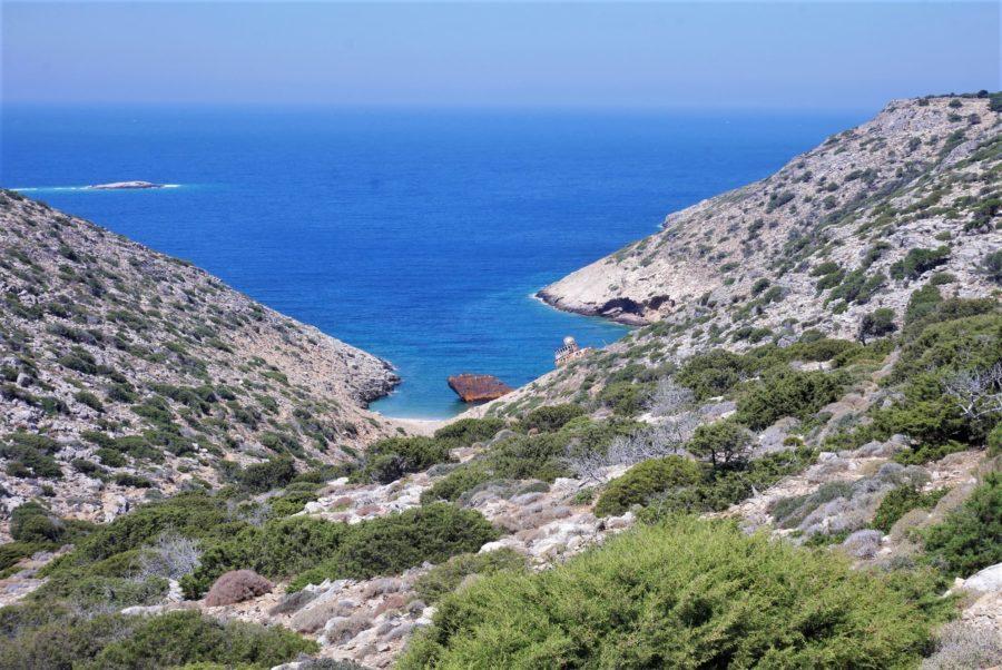 Playa del naufragio, qué ver en Amorgos, Grecia