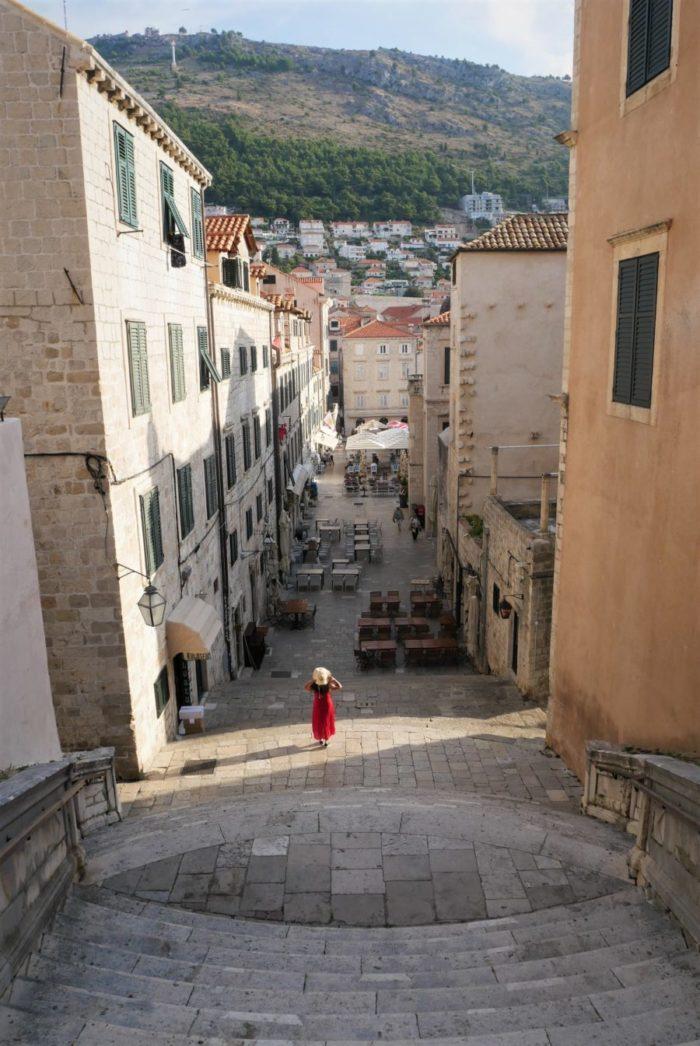 Escalera del paseo de la vergüenza de Cersei en Dubrovnik