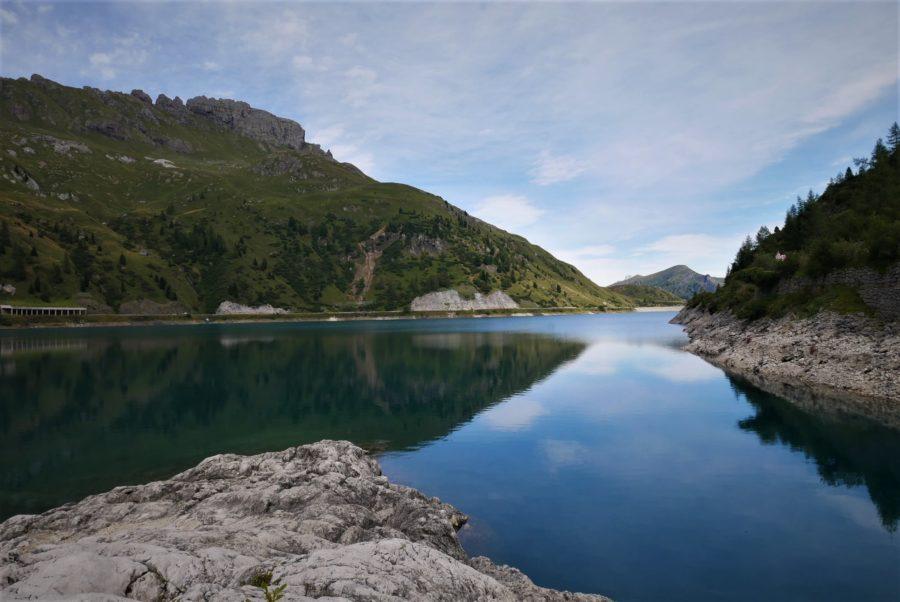 Lago di Fedaia, la Marmolada, lugares que ver en Dolomitas