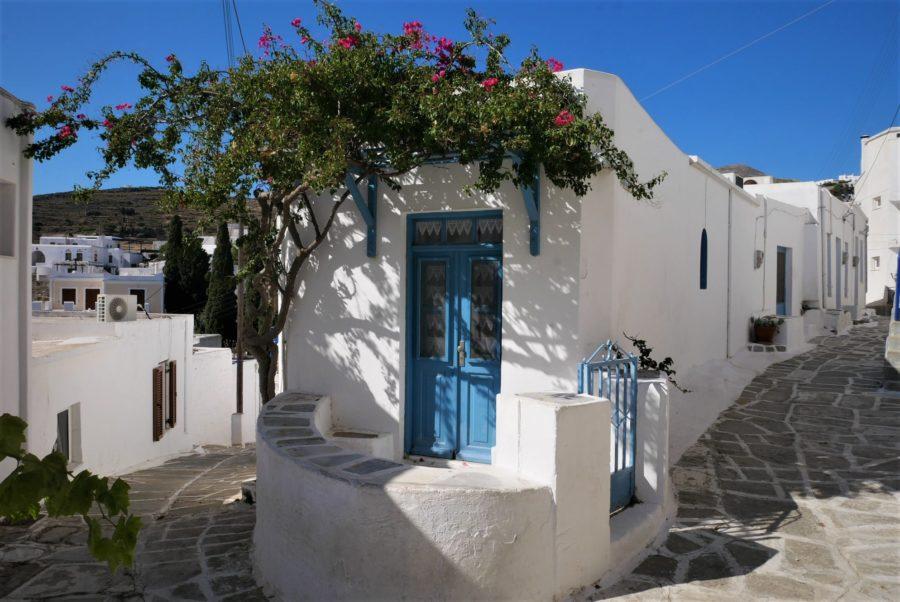 Lefkes, centro de la isla de Paros
