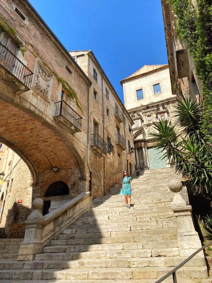 Localizaciones de Juego de Tronos en Girona, escaleras de Sant Martí