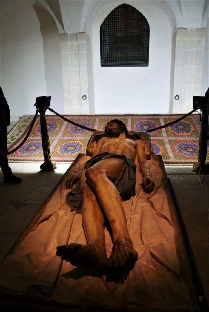 Cristo yacente, monasterio de Santa Clara