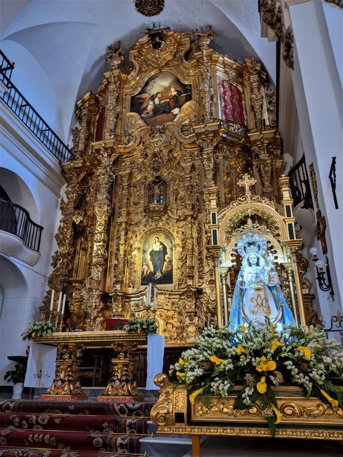 Altar Mayor en la iglesia parroquial de Laujar de Andarax