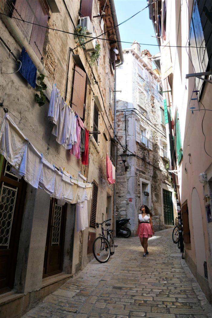 Calles del centro de Rovinj