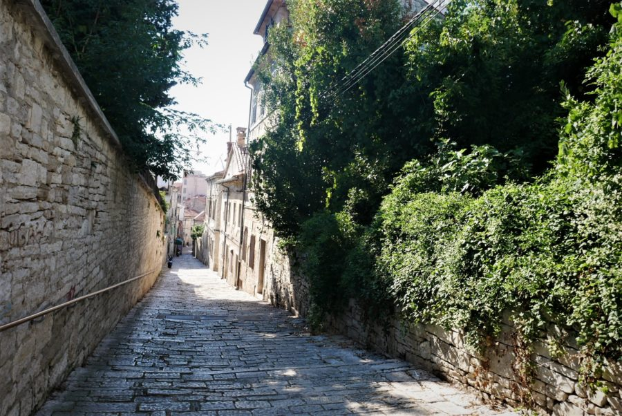 Calles del centro histórico de Pula