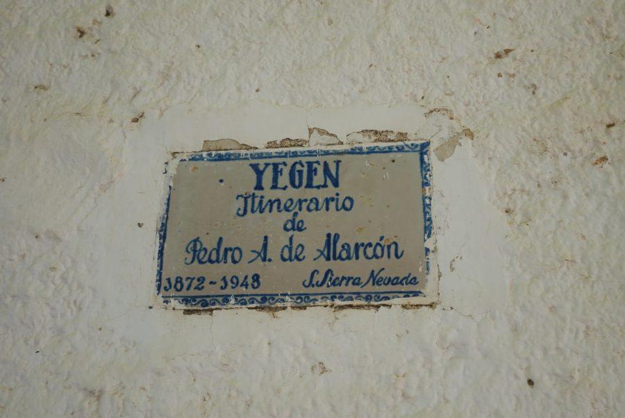 Yegen, itinerario de Pedro Antonio de Alarcón