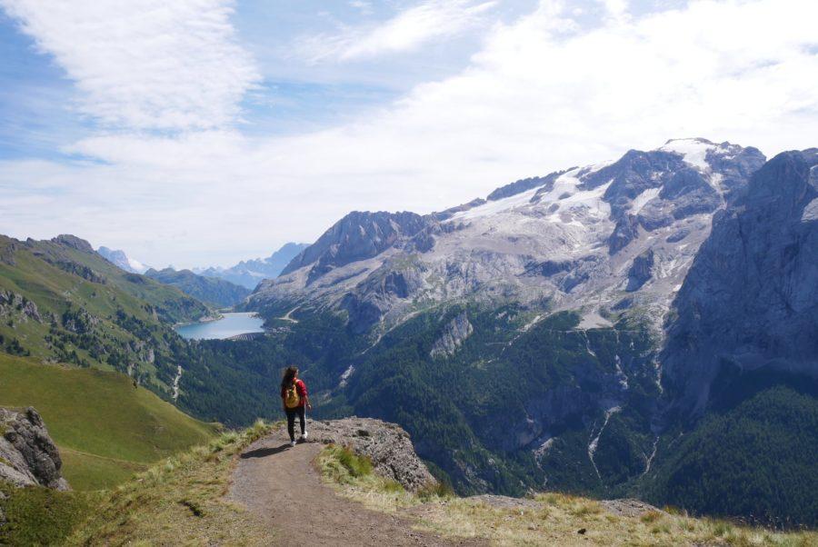 trekking al mirador de la Marmolada en Los Dolomitas