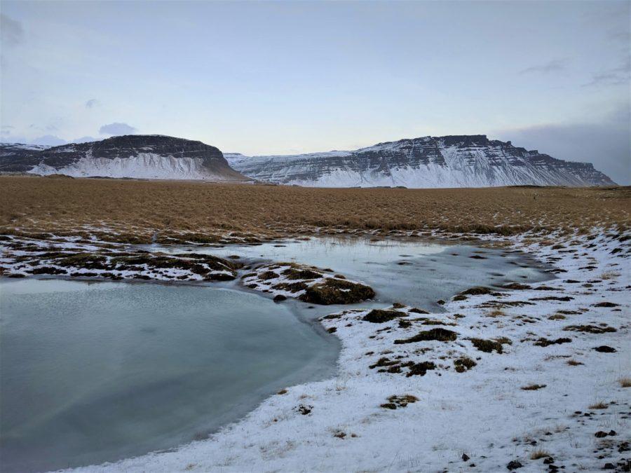 Los paisajes helados de Islandia en invierno