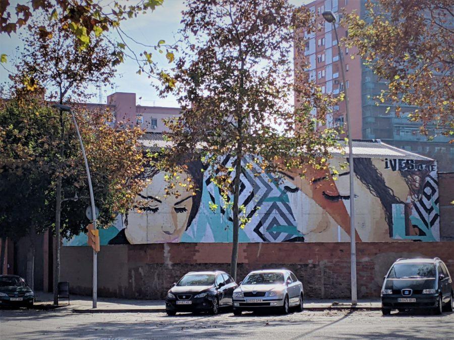 Murales en el poblenou de bcn