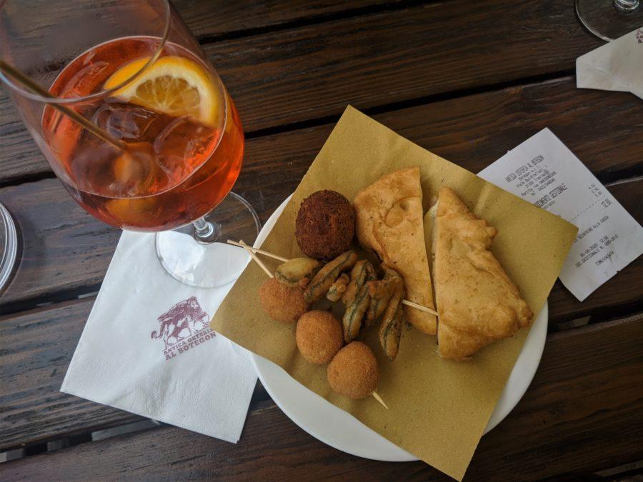 Tapas y spritz en Treviso