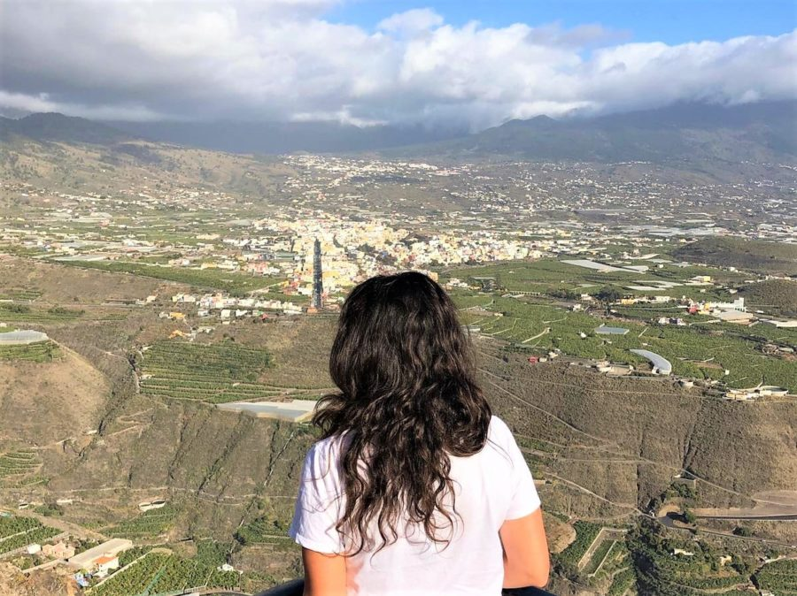 Vistas a los Llanos de Aridane, isla de La Palma
