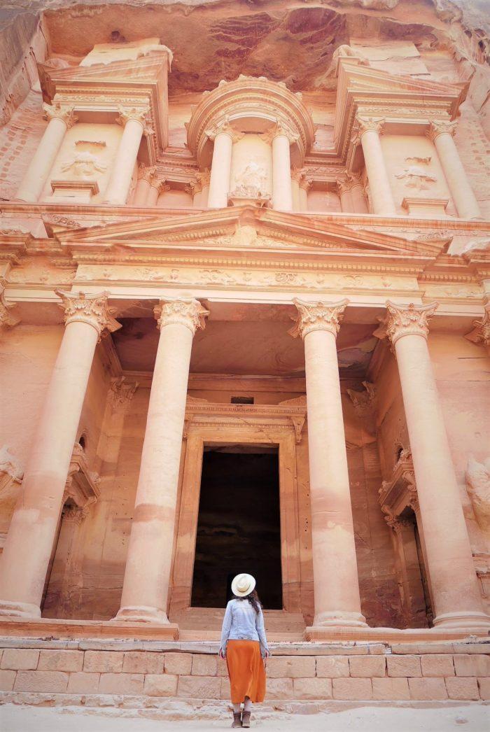 Fachada del Tesoro en Petra