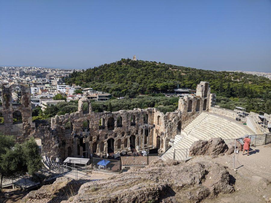 Teatro de Dionisio y colina de Filopapo