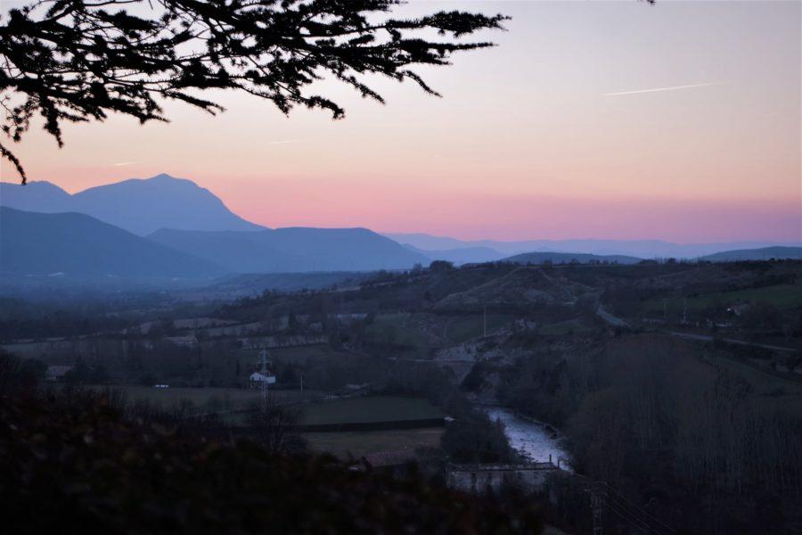 Río Aragón, paisaje de Jaca