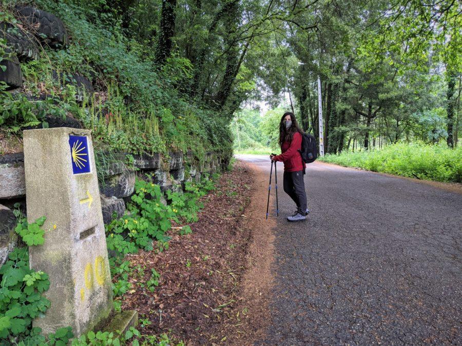100 km para Santiago de Compostela