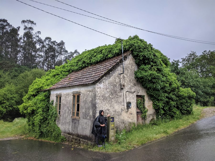 Lluvia en el Camino a Santiago