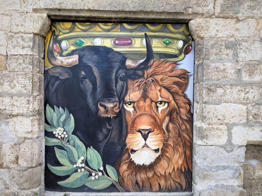 El toro y el león