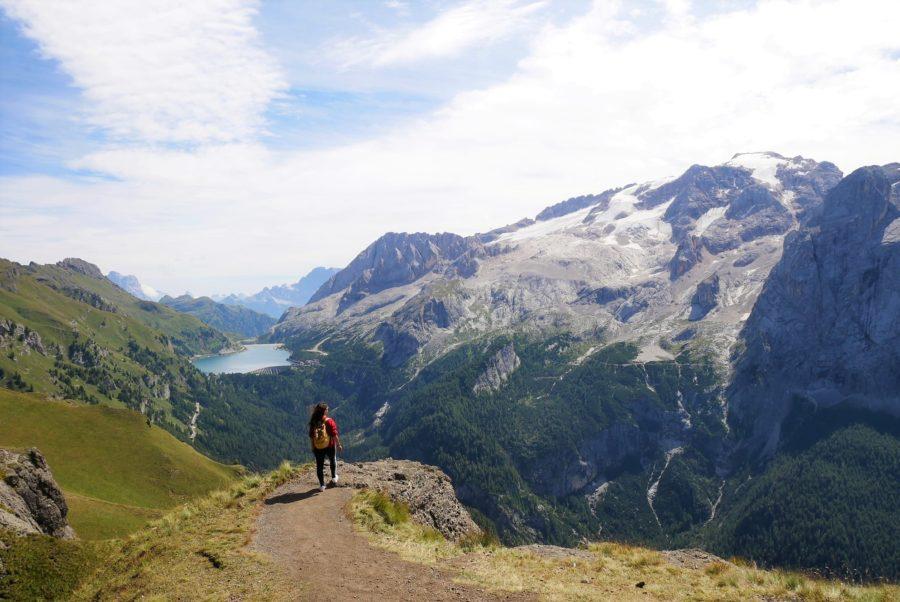 El mirador de la Marmolada, rutas de senderismo en Dolomitas