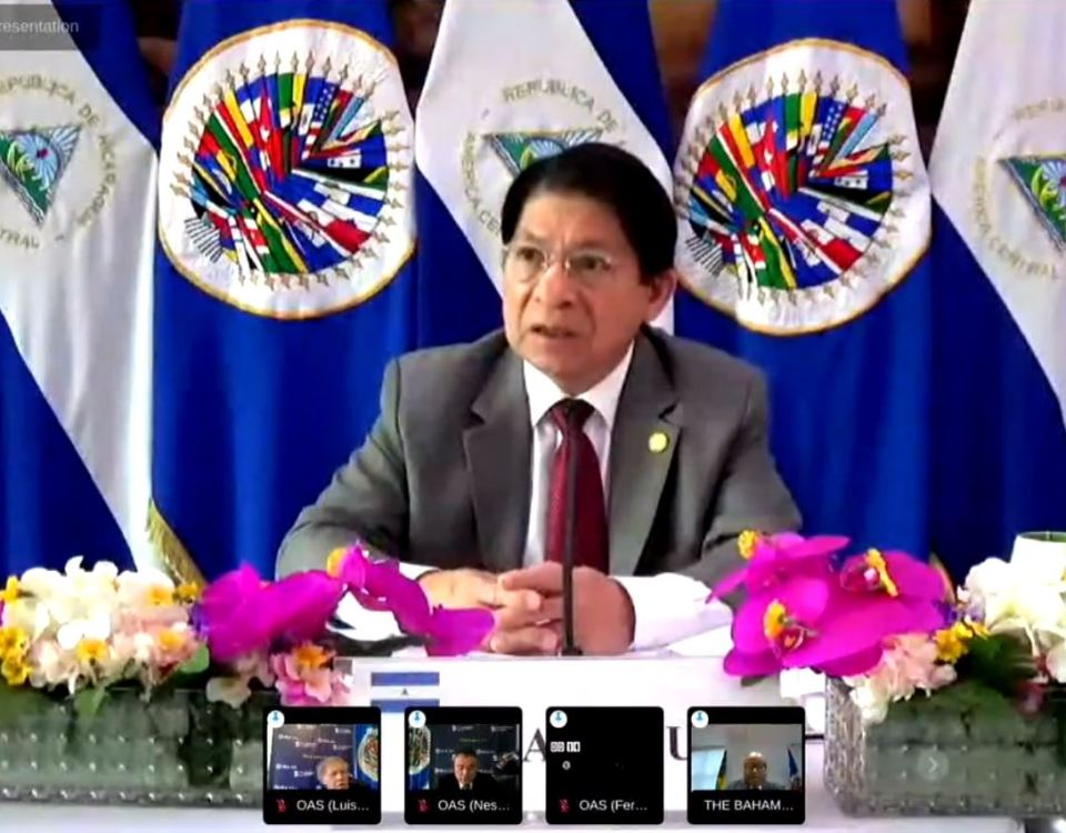 Denis Moncada, asamblea general OEA