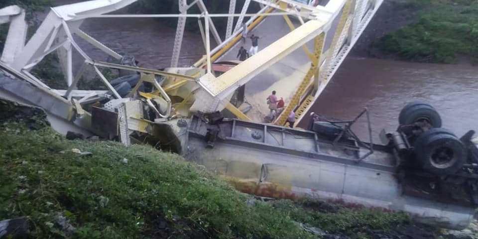 Derrumbe del puente de Cuisalá