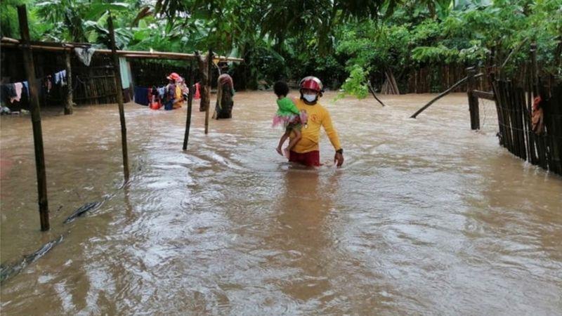 Comunidades en Honduras afectadas por el huracán Eta. Cortesía