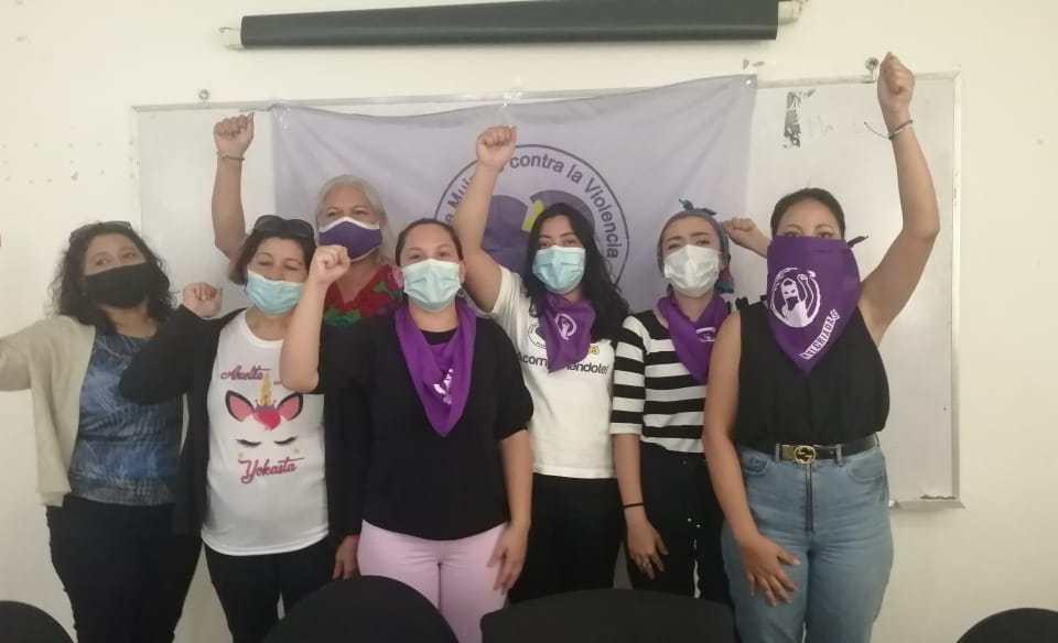 Feministas conmemoran el día contra la violencia hacia las mujeres. Cortesía