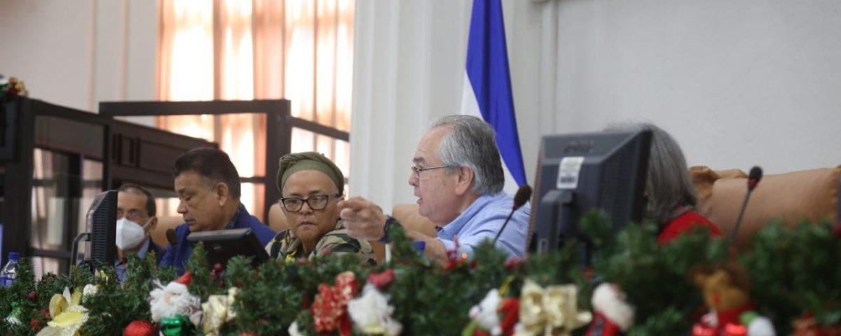 Sesión Extraordinaria en la Asamblea Nacional de Nicaragua. Cortesía