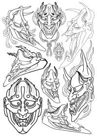 Flash Masque hannyah japonais fait par Wan