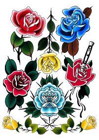 Flash Roses couleurs fait par Wan
