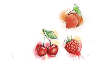 Flash fruits aquarelle fait Loreen