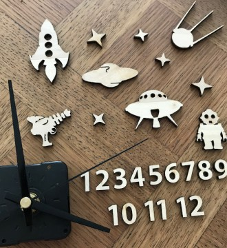 Kit créatif horloge Espace
