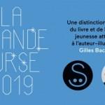 Gilles Bachelet reçoit La Grande Ourse, nouvelle distinction du Salon du livre de jeunesse de Montreuil.