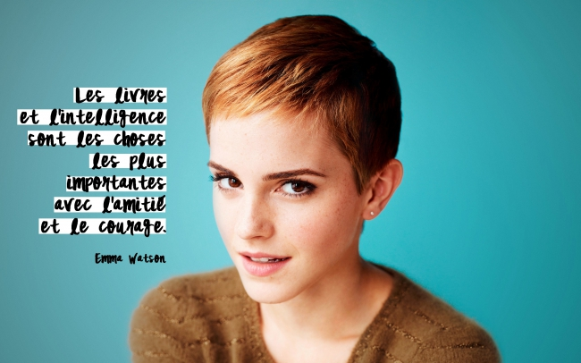 emma watson, lecture ados, courte echelel