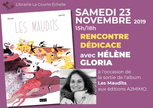 Hélène Gloria sera à la Courte Echelle samedi 23 novembre pour son nouvel album Les Maudits, aux éditions A2MIMO