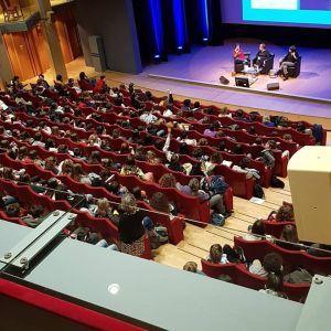 420 collégiens d'Ille-et-Vilaine pour échanger avec Sylvie Allouche et Agnès Laroche