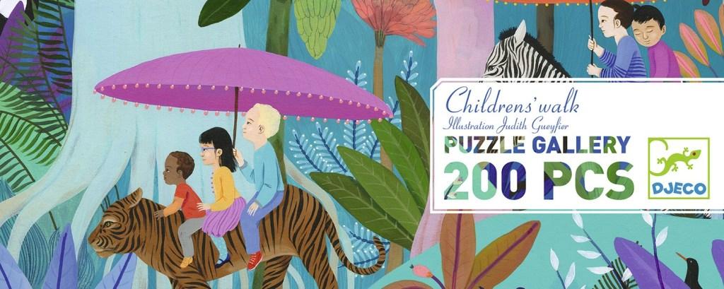 Puzzle La balade des enfants, 200 pcs, Djeco