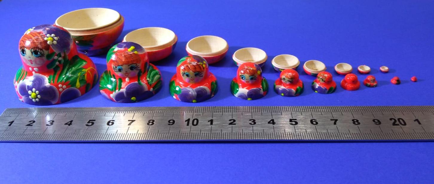Petite Matriochka de 10 pièces